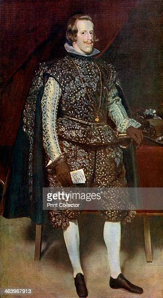 'Philip IV of Spain in Brown and Silver' c16311632 Philip IV ruled Spain from 1621 and Portugal from 1640 A colour print from Famous Paintings with...