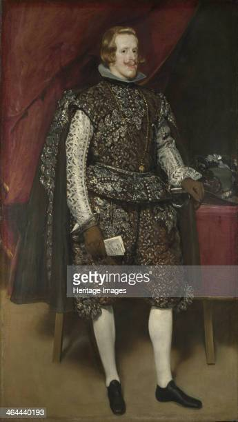 Philip IV of Spain in Brown and Silver ca 1631 Found in the collection of the National Gallery London