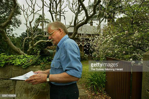 Philip Jenkyn collects his mail at his Hunters Hill home Mr Jenkyn had a valuation by the valuer general overturned and reduced for his heritage...