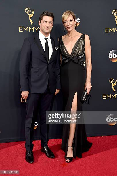Philip Joncas and actress Allison Janney attend the 68th Annual Primetime Emmy Awards at Microsoft Theater on September 18 2016 in Los Angeles...