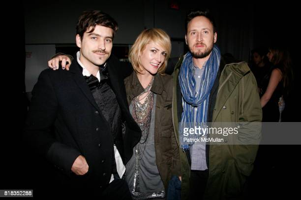 Philip Kressin Emily Haines and Nicholas Robin attend ROBERT GELLER Fall 2010 Collection at Exit Art on February 12 2010 in New York City