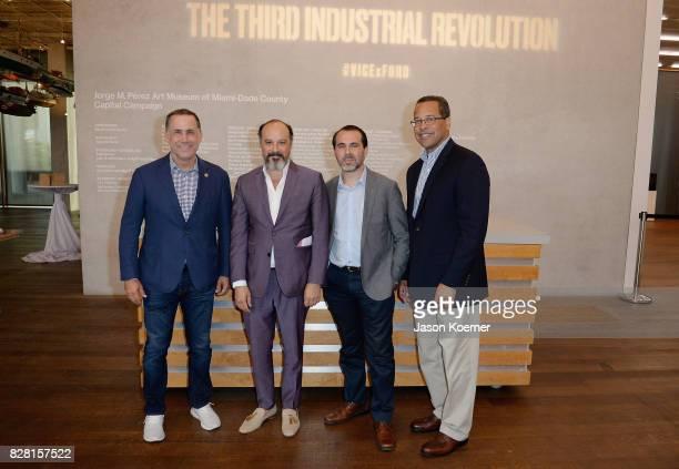 Philip Levine Mayor of Miami Beach Eddy Moretti Chief Creative Officer at Vice Tony Garcia Principal Street Plans Miami and John Viera Director of...