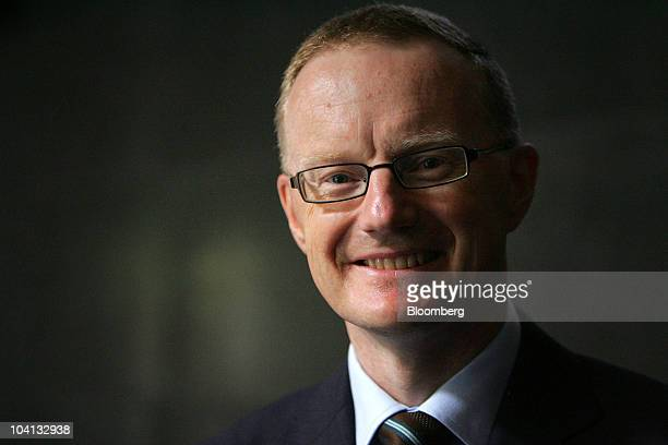 Philip Lowe assistant governor of the Reserve Bank of Australia stands for a photograph at the NatStats 2010 Conference in Sydney Australia on...