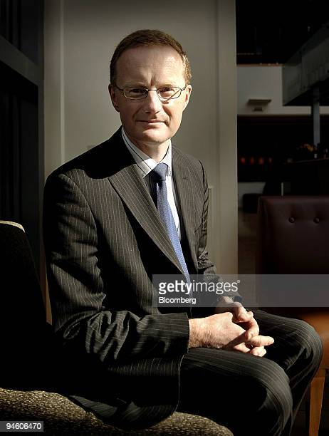 Philip Lowe assistant governor of the Reserve Bank of Australia poses for a portrait following his address at the Fourth International Credit Card...