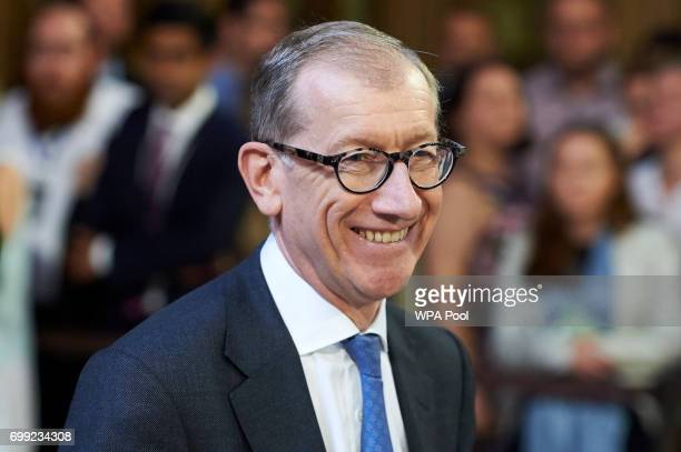 Philip May husband of Britain's Prime Minister Theresa May walks across the Central Lobby of the Palace of Westminster from the House of Lords after...