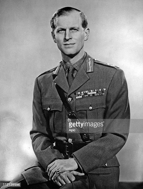 Philip Mountbatten duke of Edinburgh wearing his uniform of Field Marshal of the British Army 1953