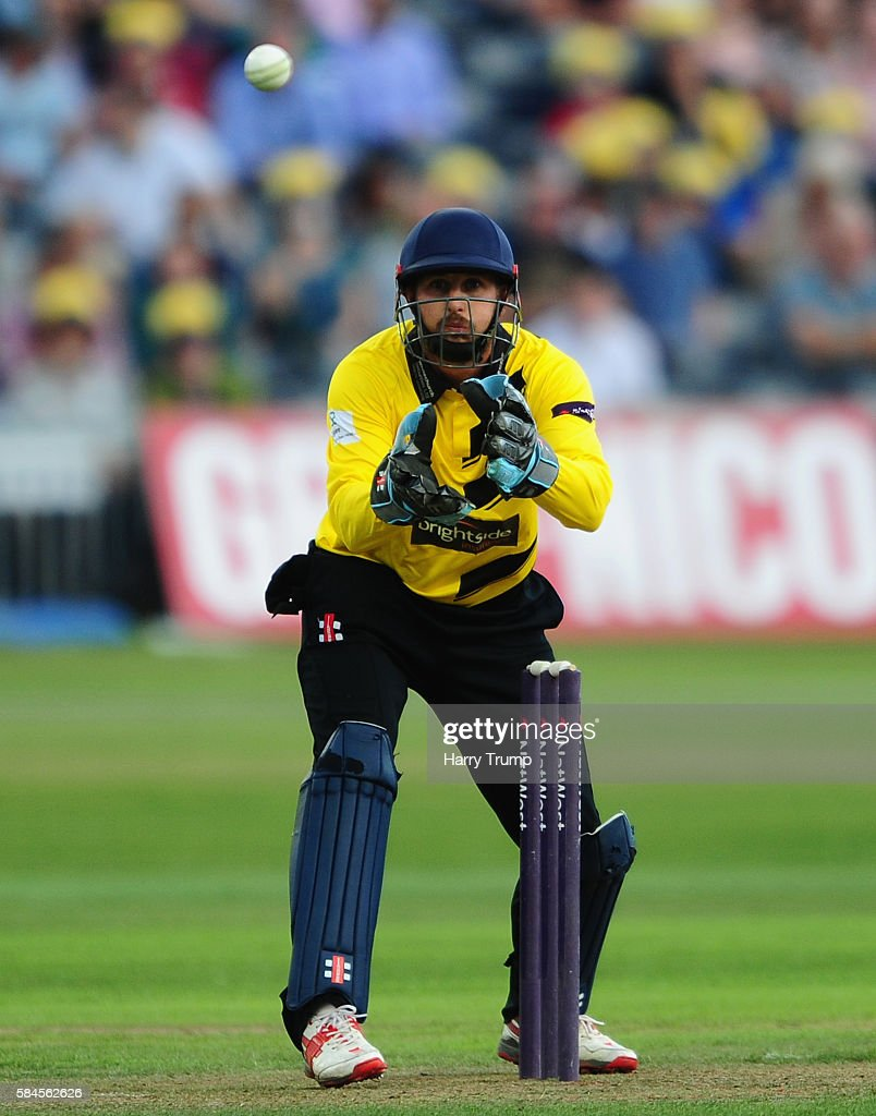 Philip Mustard of Gloucestershire during the Natwest T20 Blast match between Gloucestershire and Middlesex at The Brightside Ground on July 29 2016...