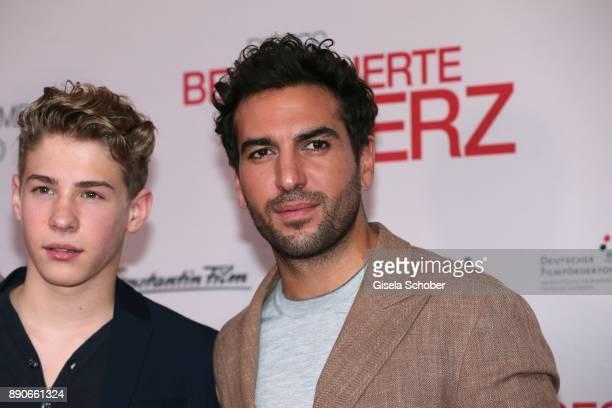 Philip Noah Schwarz and Elyas M'Barek during the 'Dieses bescheuerte Herz' premiere at Mathaeser Filmpalast on December 11 2017 in Munich Germany