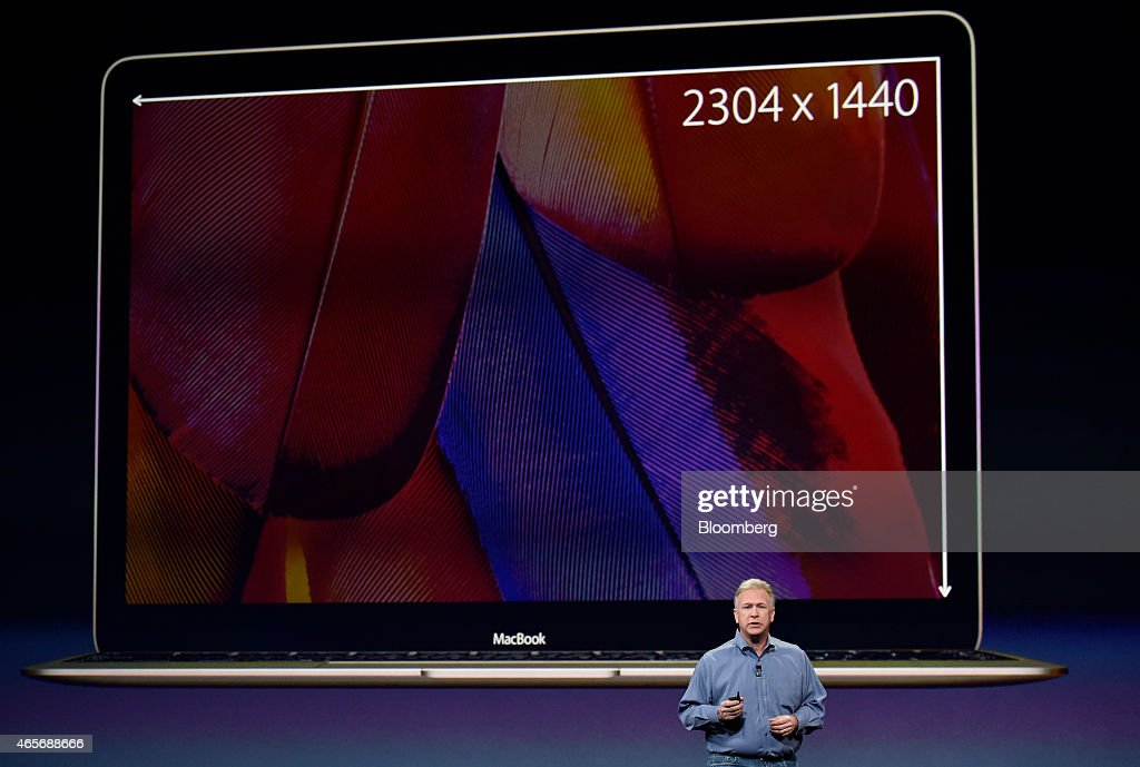Philip 'Phil' Schiller, senior vice president of worldwide marketing at Apple Inc., speaks during the Apple Inc. Spring Forward event in San Francisco, California, U.S., on Monday, March 9, 2015. Apple's chief executive officer Tim Cook returns to the spotlight to answer questions on many of the Apple Watch's key selling points, including price range, battery life and when in April it will reach stores. Photographer: David Paul Morris/Bloomberg via Getty Images