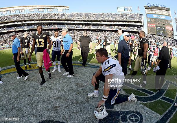 Philip Rivers of the San Diego Chargers after a 3534 loss to the New Orleans Saints at Qualcomm Stadium on October 2 2016 in San Diego California