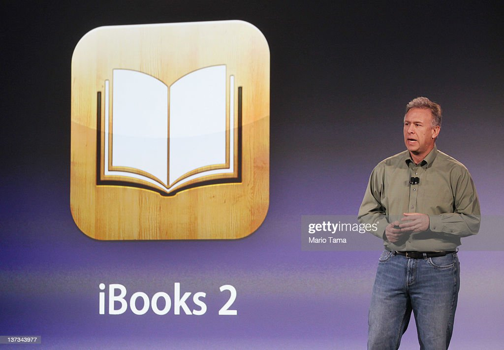 Philip Schiller, Apple's senior vice president of Worldwide Marketing, speaks about Apple's plan to 'reinvent' textbooks at an event at the Guggenheim Museum on January 19, 2012 in New York City. Apple announced iBooks 2, a new free app featuring iPad interactive textbooks. The company also announced iBook Author, an application to create digital textbooks, and iTunes U, an educational app for students and teachers.