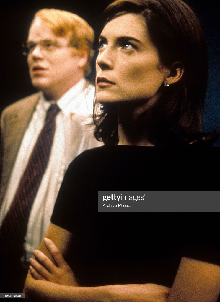 Philip Seymour Hoffman and Lara Flynn Boyle in a scene from the film 'Happiness' 1998