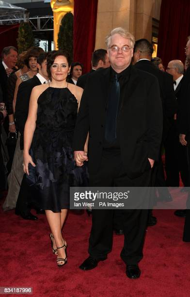 Philip Seymour Hoffman and Mimi O'Donnell arrive for the 80th Academy Awards at the Kodak Theatre Los Angeles