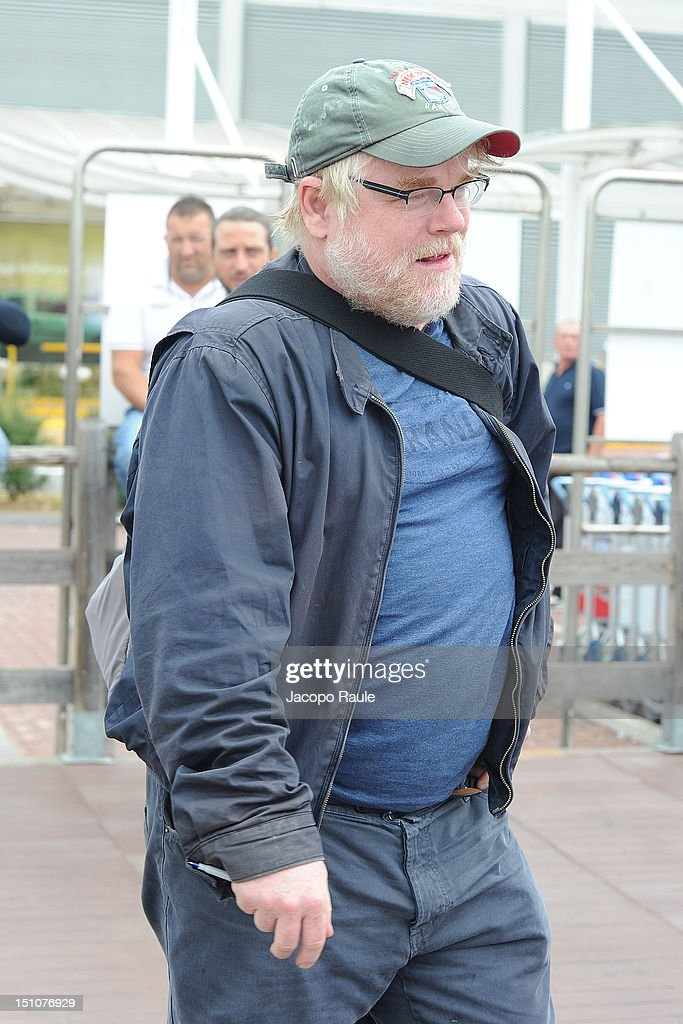 <a gi-track='captionPersonalityLinkClicked' href=/galleries/search?phrase=Philip+Seymour+Hoffman&family=editorial&specificpeople=212791 ng-click='$event.stopPropagation()'>Philip Seymour Hoffman</a> is seen During The 69th Venice Film Festival on August 31, 2012 in Venice, Italy.