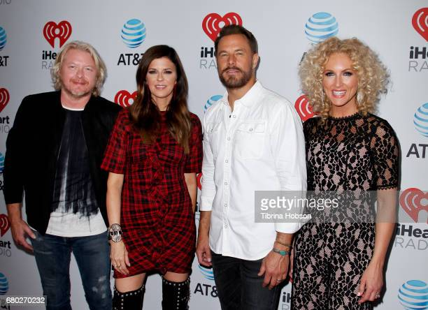 Philip Sweet Karen Fairchild Jimi Westbrook and Kimberly Schlapman of Little Big Town attend the 2017 iHeartCountry Music Festival at The Frank Erwin...