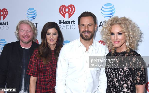 Philip Sweet Karen Fairchild Jimi Westbrook and Kimberly Schlapman of Little Big Town attend the 2017 iHeartCountry Festival held at The Frank Erwin...
