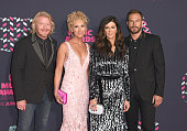 Philip Sweet Kimberly Schlapman Karen Fairchild and Jimi Westbrook of Little Big Town attend the 2016 CMT Music awards at the Bridgestone Arena on...