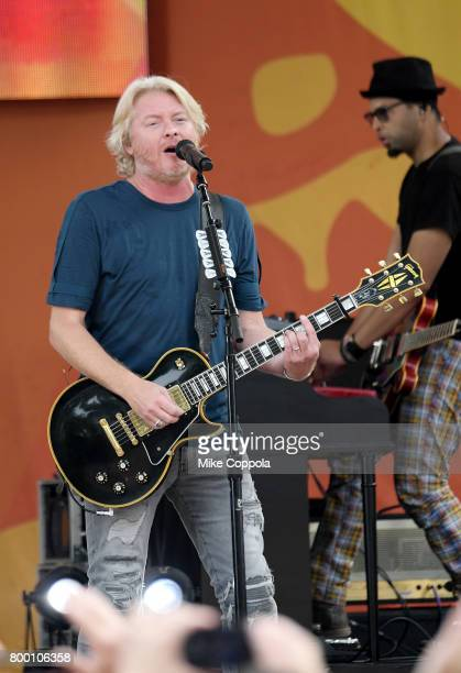 Philip Sweet of Little Big Town performs onstage on ABC's 'Good Morning America' at Rumsey Playfield Central Park on June 23 2017 in New York City