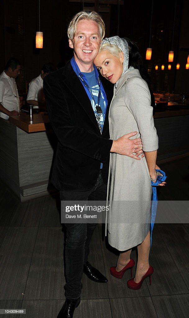 Philip Treacy and Daphne Guinness attend private dinner hosted by AnOther Magazine to celebrate the latest cover star Bjork at Sake No Hana on September 20, 2010 in London, England.