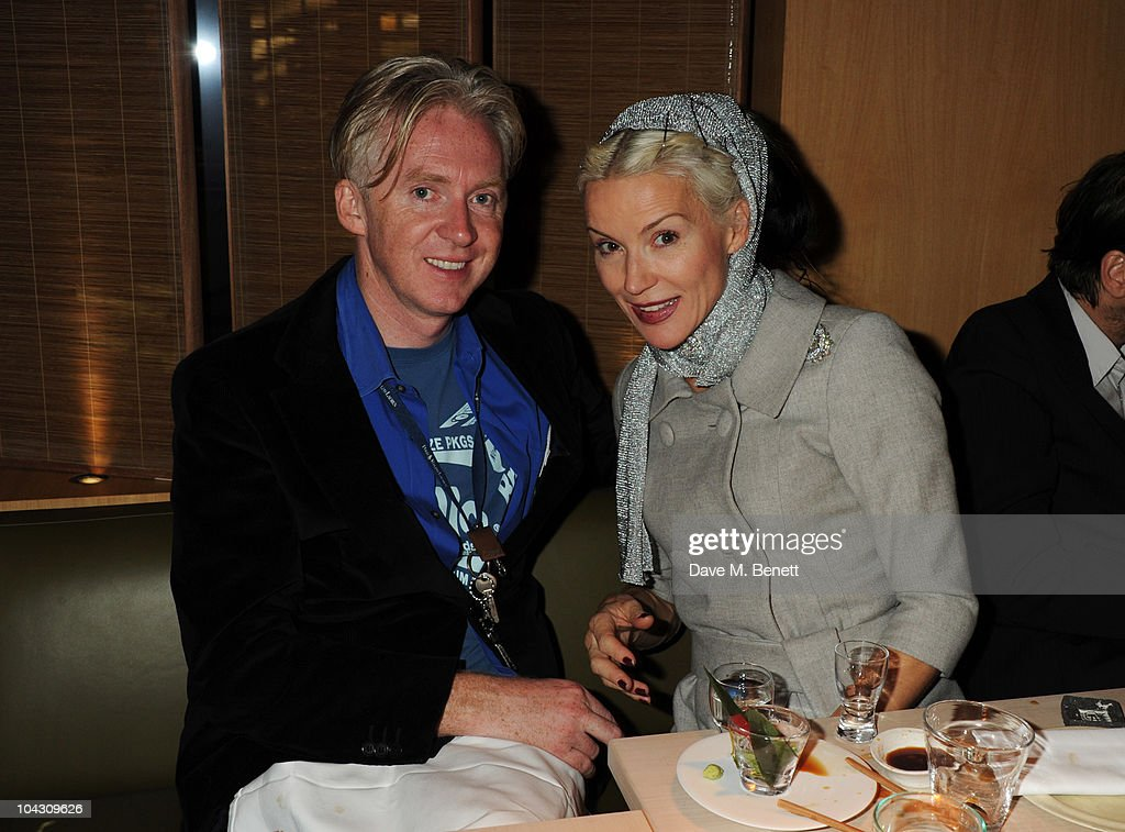 <a gi-track='captionPersonalityLinkClicked' href=/galleries/search?phrase=Philip+Treacy+-+Fashion+Designer&family=editorial&specificpeople=12819932 ng-click='$event.stopPropagation()'>Philip Treacy</a> and <a gi-track='captionPersonalityLinkClicked' href=/galleries/search?phrase=Daphne+Guinness&family=editorial&specificpeople=213037 ng-click='$event.stopPropagation()'>Daphne Guinness</a> attend private dinner hosted by AnOther Magazine to celebrate the latest cover star Bjork at Sake No Hana on September 20, 2010 in London, England.