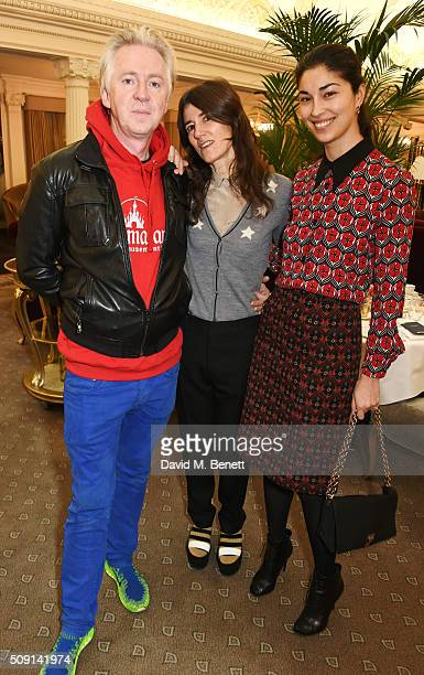 Philip Treacy Bella Freud and Caroline Issa attend the Hoping Breakfast for Palestinian refugee children at Harrods on February 9 2016 in London...