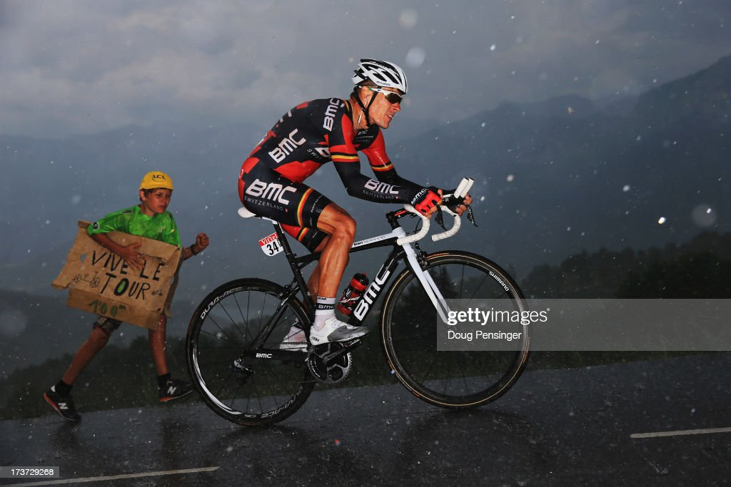 Philipe Gilbert of Belgium and BMC Racing Team rides during stage seventeen of the 2013 Tour de France, a 32KM Individual Time Trial from Embrun to Chorges, on July 17, 2013 in Chorges, France.