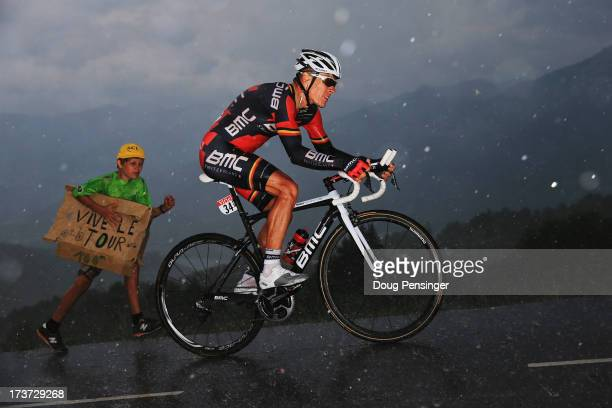 Philipe Gilbert of Belgium and BMC Racing Team rides during stage seventeen of the 2013 Tour de France a 32KM Individual Time Trial from Embrun to...