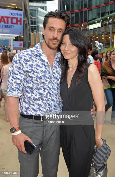 Philipp Christopher and Michelle Glick during the Baywatch European Premiere Party on May 31 2017 in Berlin Germany