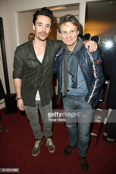 Philipp Christopher and Wolfgang Bahro attend the Ku'damm 56' Premiere on March 07 2016 in Berlin Germany