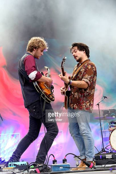 Philipp Dausch and Clemens Rehbein of Milky Chance perform in concert during day 4 of the Bonnaroo Music and Arts Festival on June 11 2017 in...