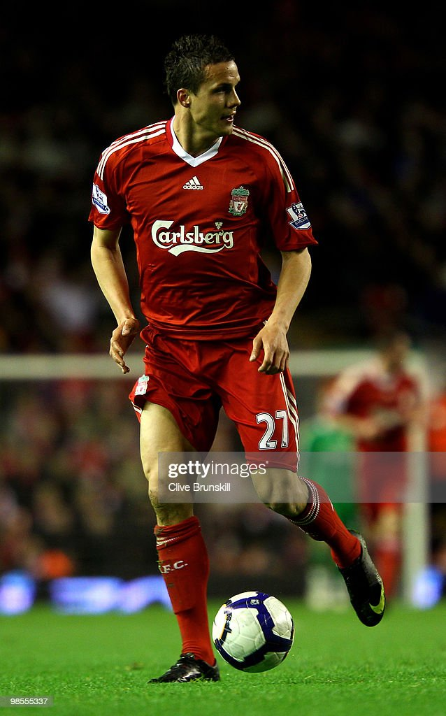 <a gi-track='captionPersonalityLinkClicked' href=/galleries/search?phrase=Philipp+Degen&family=editorial&specificpeople=534432 ng-click='$event.stopPropagation()'>Philipp Degen</a> of Liverpool in action during the Barclays Premier League match between Liverpool and West Ham United at Anfield on April 19, 2010 in Liverpool, England.