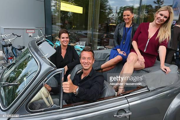 Philipp Kohlschreiber arrives with Katarina Witt Simone Ballack and Magdalena Brzeska in a historical BMW car for the Iphitos Tennis Club 100 years...