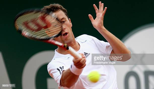 Philipp Kohlschreiber of Germany in action during his match against Jeremy Chardy of France during day one of the ARAG World Team Cup at the...
