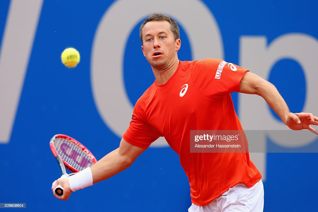 <a gi-track='captionPersonalityLinkClicked' href=/galleries/search?phrase=Philipp+Kohlschreiber&family=editorial&specificpeople=225202 ng-click='$event.stopPropagation()'>Philipp Kohlschreiber</a> of Germany plays a forehand during his finale match against Dominic Thiem of Austria of the BMW Open at Iphitos tennis club on May 1, 2016 in Munich, Germany.