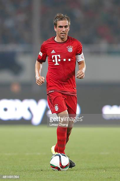 Philipp Lahm of FC Bayern Muenchen in action during the international friendly match between FC Bayern Muenchen and Inter Milan of the Audi Football...