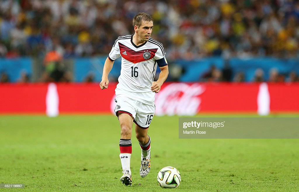 Philipp Lahm of Germany controls the ball during the 2014 FIFA World Cup Brazil Final match between Germany and Argentina at Maracana on July 13 2014...