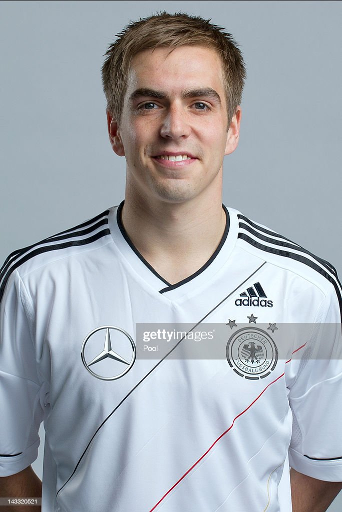 <a gi-track='captionPersonalityLinkClicked' href=/galleries/search?phrase=Philipp+Lahm&family=editorial&specificpeople=483746 ng-click='$event.stopPropagation()'>Philipp Lahm</a> of Germany poses during a national team photocall on November 14, 2011 in Hamburg, Germany.