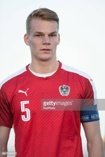 Philipp Lienhart during the friendly match of national teams U21 of Austria vs Australia at Pinatar Arena on March 24 2017 in Murcia Spain