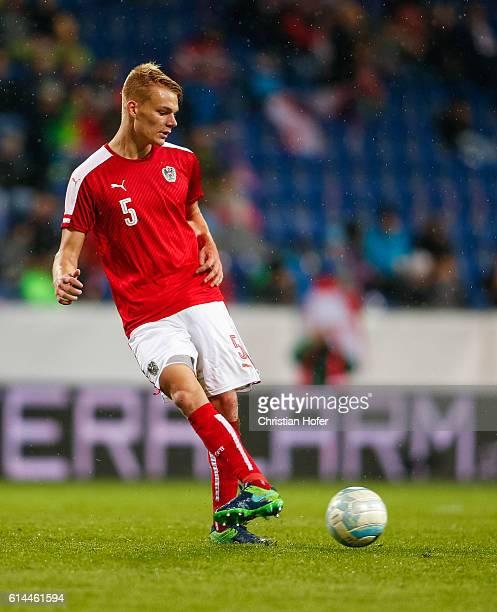 Philipp Lienhart of Austria controls the ball during the 2017 UEFA European U21 Championships Qualifier between U21 Austria and U21 Germany at NV...