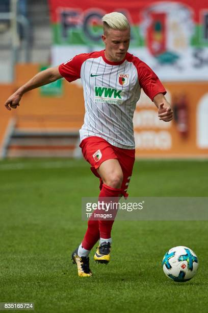 Philipp Max of Augsburg controls the ball during the preseason friendly match between FC Augsburg and PSV Eindhoven on August 6 2017 in Augsburg...