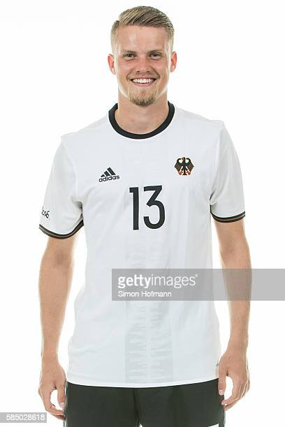 Philipp Max poses during the German Olympic Football Team Photocall on July 30 2016 in NeuIsenburg Germany