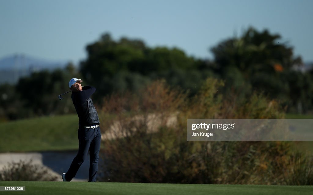 Philipp Mejow of Germany looks on after a shot during round four of the European Tour Qualifying School Final Stage at Lumine Golf Club on November 14, 2017 in Tarragona, Spain.