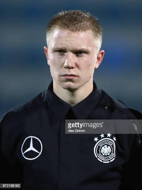 Philipp Ochs of Germany looks on prior to the UEFA Under21 Euro 2019 Qualifier match between Azerbaijan U21 and Germany U21 at Dalga Arena on...