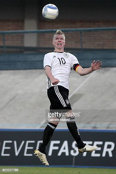 Philipp Ochs of Germany U20 in action during the Four Nations tournament match between Italy U20 and Germany U20 on November 10 2016 in Forli Italy