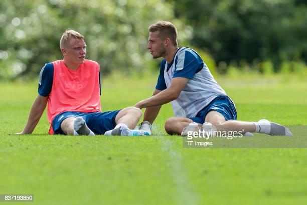 Philipp Ochs of Hoffenheim and Pavel Kaderabek of Hoffenheim looks on during the Training Camp of TSG 1899 Hoffenheim on July 16 2017 in...