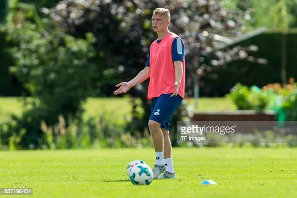 Philipp Ochs of Hoffenheim gestures during the Training Camp of TSG 1899 Hoffenheim on July 16 2017 in Windischgarsten Austria