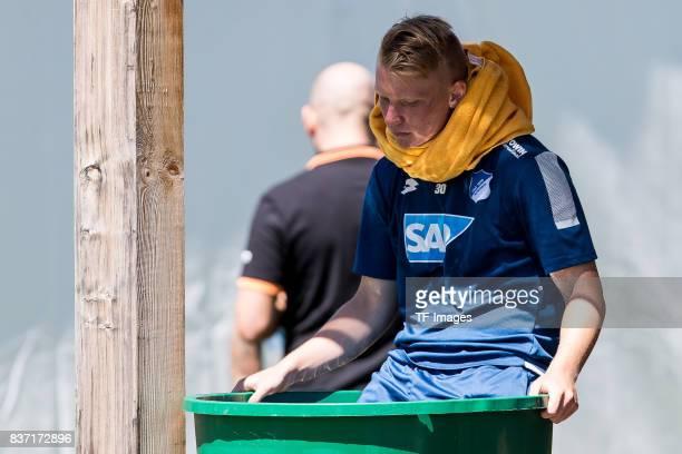 Philipp Ochs of Hoffenheim in der Eistonne during the Training Camp of TSG 1899 Hoffenheim on July 16 2017 in Windischgarsten Austria