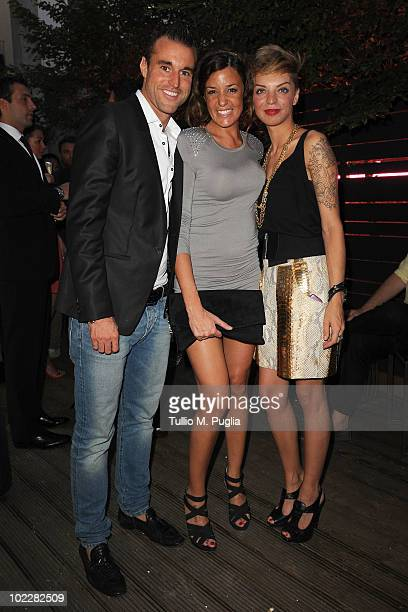 Philipp Plein Alessia Fabiani and guest attend Philipp Plein Cocktails Superheroes party during Milan Fashion Week Menswear Spring/Summer 2011 on...