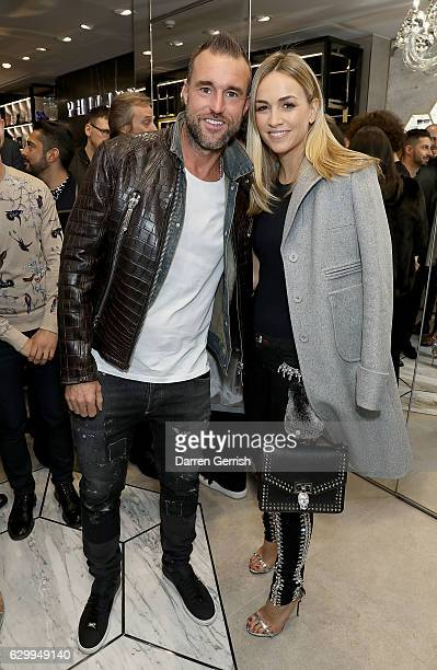 Philipp Plein and Carmen Jorda attend a cocktail party to celebrate the opening of the Philipp Plein London Boutique on December 15 2016 in London...