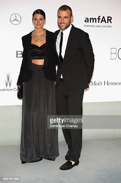 Philipp Plein and guest attend amfAR's 21st Cinema Against AIDS Gala Presented By WORLDVIEW BOLD FILMS And BVLGARI at Hotel du CapEdenRoc on May 22...